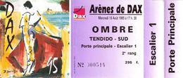Billet De Corrida Neuf Du 16/08/1995 Arènes De DAX 40 - Scans Recto-verso - Tickets D'entrée