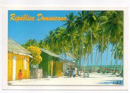 République DOMINICAINE---MANO  JUAN -2002---animée--palmiers--cachet Fécamp-- - Dominicaine (République)