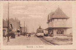 Westende - La Station / De Statie - Tram Kusttram Geanimeerd (In Zeer Goede Staat) - Westende