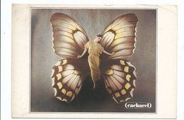 CPM Publicité Mode Femme Cacharel - Femme Art Déco Papillon Humanisé - Amorimage Pour Humour à La Carte 1988 - Moda