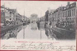 Haven Van Brussel Bruxelles Dok Bassin De L'Entrepôt Stapelhuisdok Les Quais Au Foin Et Aux Pierres De Taille Tonneaux - Monuments, édifices