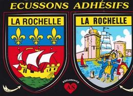 CPM 10X15. Double BLASONS / ECUSSONS Adhésifs . LA ROCHELLE - Fancy Cards