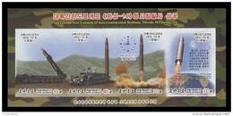 North Korea 2017 Mih. 6401B/04B (Bl.949B) Intercontinental Ballistic Missile Hwasong-14 (imperf) MNH ** - Korea, North
