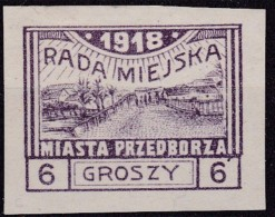 POLAND 1918 Przedborz Local Fi 9A Mint Hinged Signed Mikulski T.2 - ....-1919 Provisional Government