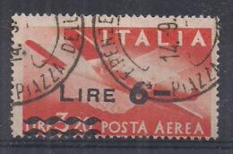 ITALIA - 1947 POSTA  AEREA DEMOCRATICA SASS. 135 USATO VF - 6. 1946-.. Repubblica