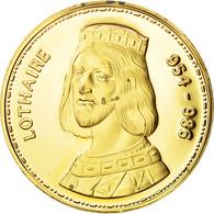 France, Medal, Les Rois De France, Lothaire, History, FDC, Vermeil - France