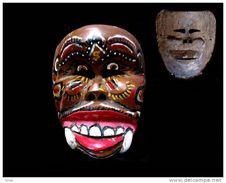 Ancien Masque Topeng Esprit Tigre - Art Asiatique