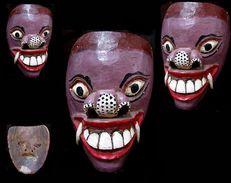 Ancien Masque Du Ramayana / Old Ramayana Mask - Art Asiatique