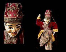 Ancienne Marionnette Birmane WUN-GYI-LAY-BAR Le Ministre / Old Burmese Minister Puppet - Art Asiatique