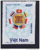 Vietnam MNH Perf Stamp 1995 : Viet Nam Joining ASEAN / Flag (Ms713) - Vietnam