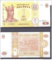 1998. Moldova, 1 Leu/1998, P-8, UNC - Moldavie
