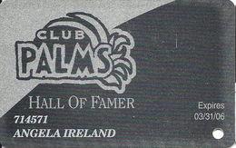 Palms Casino Las Vegas NV - Hall Of Famer Slot Card - Exp 3/31/06 - Casino Cards