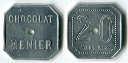 N93-0427 - Monnaie De Nécessité - Noisiel - Chocolat Menier - 20 Centimes - Type 2 - Notgeld