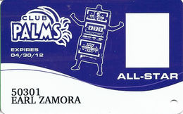 Palms Casino Las Vegas NV - All-Star Slot Card - Exp 04/30/12 - Casino Cards