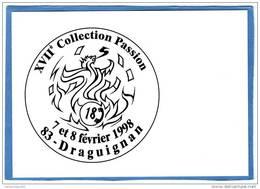 SALON CP DRAGUIGNAN LES SOLDATS DU FEU  ILLUSTRATEUR   GREGORI  POMPIER CACHET DU BUREAU TEMPORAIRE - Bourses & Salons De Collections