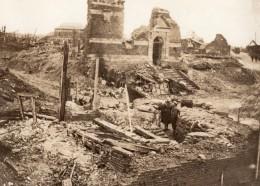 France WWI Front De L'Ouest Village En Ruines Ancienne Photo 1914-1918 - Guerre, Militaire