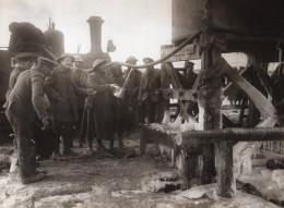 France WWI Front De L'Ouest Soldats Reserves D'Eau Potable Ancienne Photo 1914-1918 - Guerre, Militaire