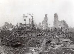 France Thilloy WWI Front De L'Ouest Cimetiere Ruines Ancienne Photo 1914-1918 - War, Military