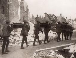 France WWI Front De L'Ouest Artillerie Soldats Anglais Au Repos Ancienne Photo 1914-1918 - Guerre, Militaire