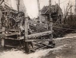 France WWI Front De L'Ouest Construction Pont Sur La Somme Ancienne Photo 1914-1918 - War, Military