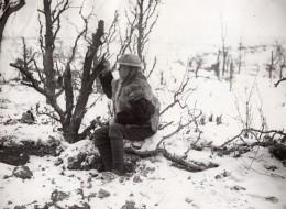France WWI Front De L'Ouest Soldat Anglais En Tenue D'Hiver Ancienne Photo 1914-1918 - Guerre, Militaire