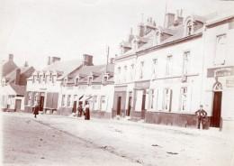 France Boulogne Sur Mer? Rue Commercante Imprimerie Sergent Decroix-Morel Ancienne Photo 1920 - Places