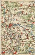 Ansichtskarte Großenhain Karte Von Dem Ort Un Der Umgebung 1929 - Grossenhain