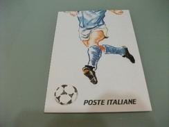CARTOLINA  FRANCOBOLLO  MACCHINETTA LIRE 600 ITALIA CAMPIONATI MONDIALI CALCIO 1990 - Calcio