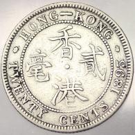 20 CENTS 1893 HONG KONG KM 7 ARGENTO SILVER #5777 - Hong Kong