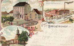 CPA- HARSKIRCHEN (67) - Carte Lithographique De Gabelmann En 1901 - Fabrique De Tuiles - Sonstige Gemeinden