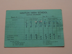 HAXTUN HIGH SCHOOL Colorado Year 1948 - 49 ( Cauble ) Detail, Look Photo ! - Diplômes & Bulletins Scolaires