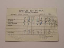 HAXTUN HIGH SCHOOL Colorado Year 1949 - 50 ( Cauble ) Detail, Look Photo ! - Diplômes & Bulletins Scolaires