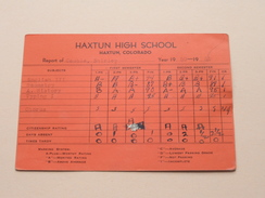HAXTUN HIGH SCHOOL Colorado Year 1950 - 51 ( Cauble ) Detail, Look Photo ! - Diplômes & Bulletins Scolaires