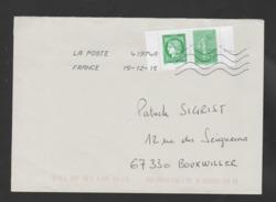"""FRANCE / 2014 / Y&T N° 4908/4909 (du Carnet Se Tenant) : """"Semeuse & Cérès"""" - Sur Pli Du 15/12/2015 - Postmark Collection (Covers)"""