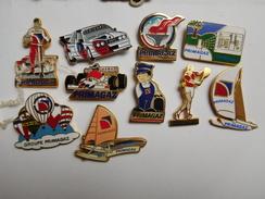 Belle Série De 10 Pin's, Carburant , Gaz , Primagaz , Sponsor Auto Sport Proto , Le Mans , Montgolfiére , Bateau Voilier - Fuels