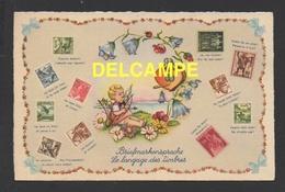 DF / SUISSE / LE LANGUAGE DES TIMBRES / BRIEFMARKENSPRACHE / ANGE, CUPIDO, TIMBRES SUISSES - Schweiz