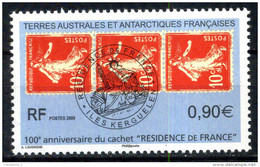 "TAAF N° 526 Timbres Sur Timbres 100eme Anniversaire Du Cachet "" RESIDENCE DE FRANCE "" Neuf ** - Franse Zuidelijke En Antarctische Gebieden (TAAF)"