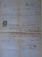 DEL003.8  Old Document  FELCSUTH Halamiczek  Juhász Burger - Koller Hoffman 1872 Felcsút - Engagement
