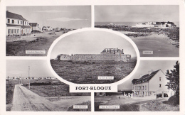 Fort - Bloque - Multivue 5 Vues (Hôtel Du Vieux Fort, Le Fort, Le Fort Du Loch, VG, Hôtel Du Fort Bloqué) Circ 1955 - Autres Communes