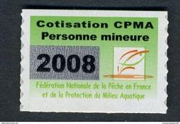 Timbre Fiscal De Pêche Neuf - Personne Mineure - 2008 - Fiscale Zegels