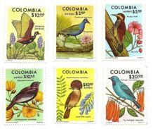 1977 - Colombia 709/10 + PA 610/13 Uccelli, - Papegaaien, Parkieten