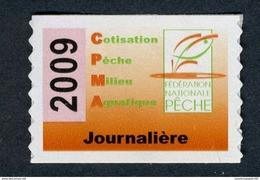Timbre Fiscal De Pêche Neuf - Taxe Journalière - 2009 - Fiscale Zegels