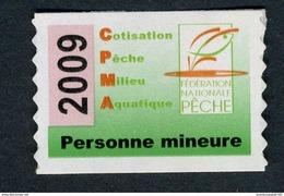 Timbre Fiscal De Pêche Neuf - Personne Mineure - 2009 - Fiscale Zegels