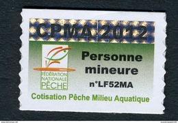 Timbre Fiscal De Pêche Neuf - Personne Mineure - 2012 - Fiscale Zegels