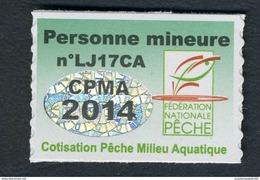 Timbre Fiscal De Pêche Neuf - Personne Mineure - 2014 - Fiscale Zegels