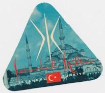 TURKEY ISTANBUL - HILTON HOTEL - Old HOTEL LUGGAGE LABEL ETIQUETTE ETICHETTA BAGAGE - Hotel Labels