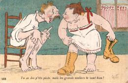 TU AS DES P'TITS PIEDS MAIS LES GRANDS SOULIERS TE VONT BIEN ILLUSTRATION - Humor