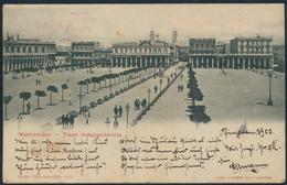 Ansichtskarte Foto Uruguay Montevideo Plaza Independencia Nach Schulau 1900 - Ohne Zuordnung