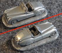 AUTOSCULPT - Ancienne Miniature En étain - JAGUAR XK 120 Roadster - Echelle 1:87