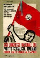 T 129 - PARTITO SOCIALISTA ITALIANO - NON CIRCOLATA - Partiti Politici & Elezioni